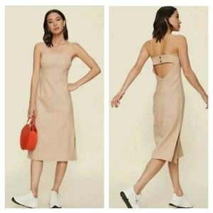 LPA Janina Sand Dress  Ramie Side Slit